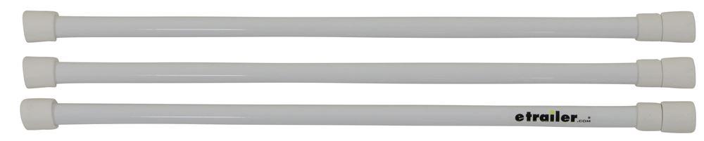 Camco RV Refrigerator Bars - White - Qty 3 Refrigerator Bars CAM44053