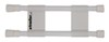 Camco RV Cupboard Double Bar - White White CAM44093