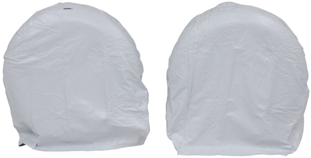 """Camco Vinyl Tire Covers - 40""""-42"""" - Qty 2 - Arctic White Wheel Covers CAM45326"""