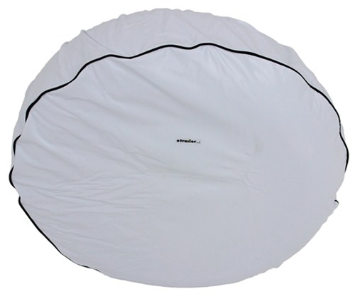 Arctic White Camco 45345 RV Vinyl Spare Tire Cover 28-Inch Diameter