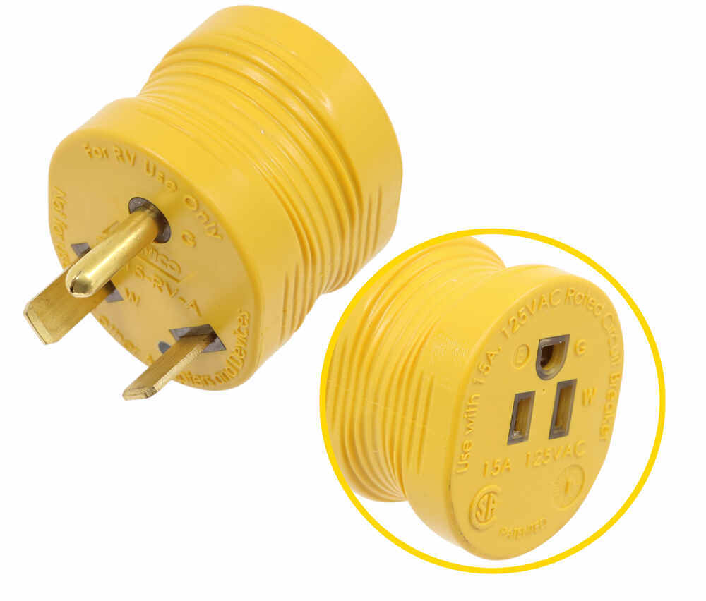 CAM55233 - RV Cord to Power Hookup Camco Adapter Plug