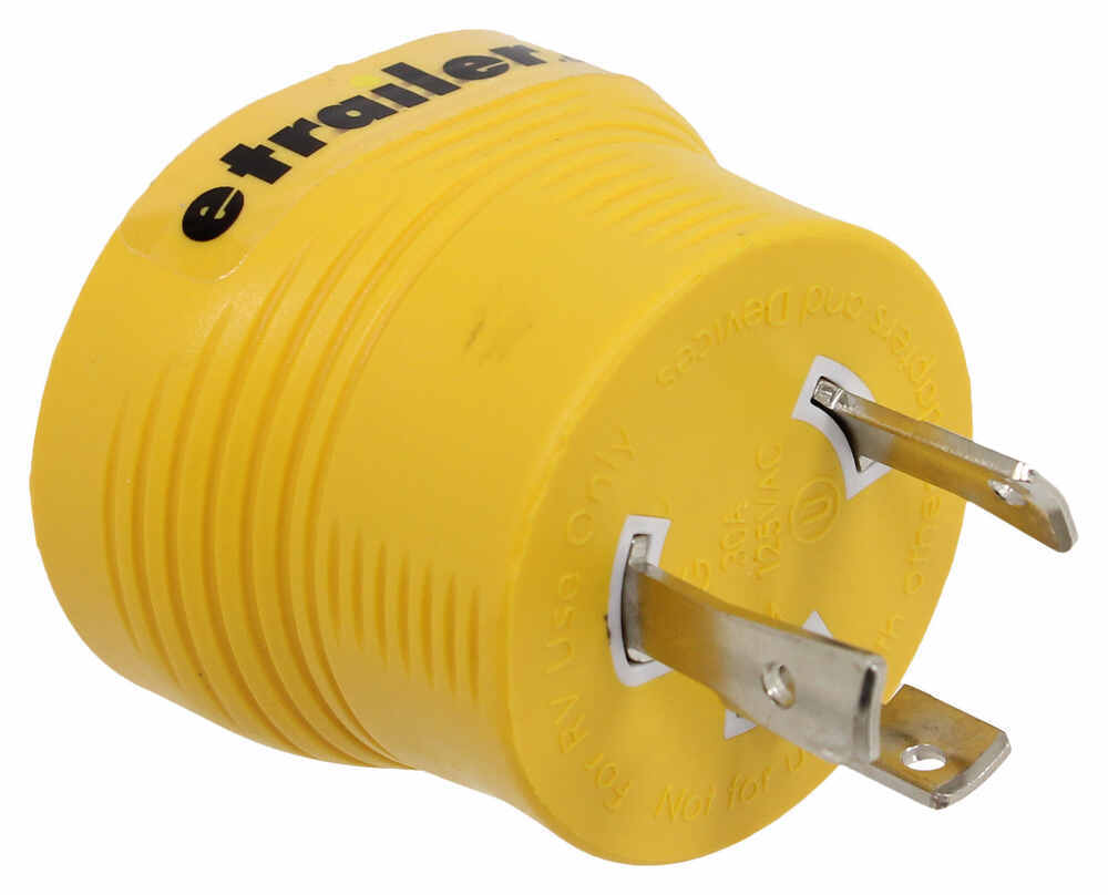 CAM55333 - 30 Amp Twist Lock Male Plug Camco Generator Plug Adapters