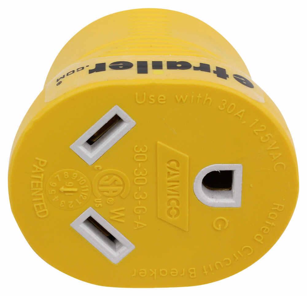 Power Grip Generator Plug Adapter for RV Power Cord - 30 Amps - 3 Prong Twist Lock 30 Amp Female Plug CAM55333