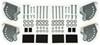"Carr Custom-Fit Side Steps - Hoop II - Black Powder Coated Aluminum - 7"" Step - 1 Pair Fixed Step CARR104501"