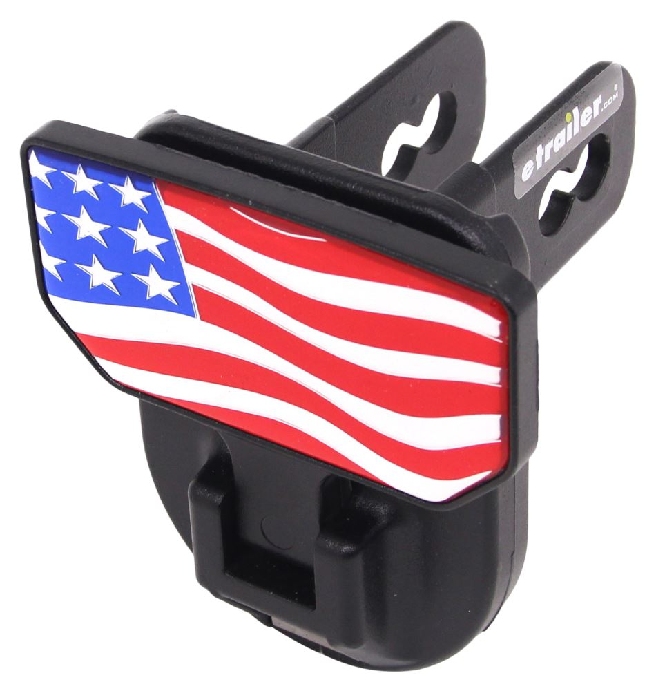 "Carr Hitch Mounted Step for 2"" Trailer Hitches - Black Powder Coat Aluminum - American Flag 2 Inch Hitch CARR183032"