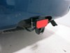 """Carr Hitch Mounted Step for 2"""" Trailer Hitches - Black Powder Coat Aluminum - Red Reflector Aluminum CARR183242"""