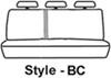 Covercraft Carhartt SeatSaver Custom Seat Covers - Second Row - Gravel Gray SSC7432CAGY