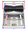"CE Smith Deep V Keel Roller Assembly for Boat Trailers - Galvanized Steel/Black Rubber - 8"" 8 Inch Long CE10403G"