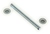 "Roller Shaft with Pal Nuts for Boat Trailer Rollers - Zinc-Plated Steel - 5-1/4"" x 1/2"" 1/2 Inch Diameter CE10700A"