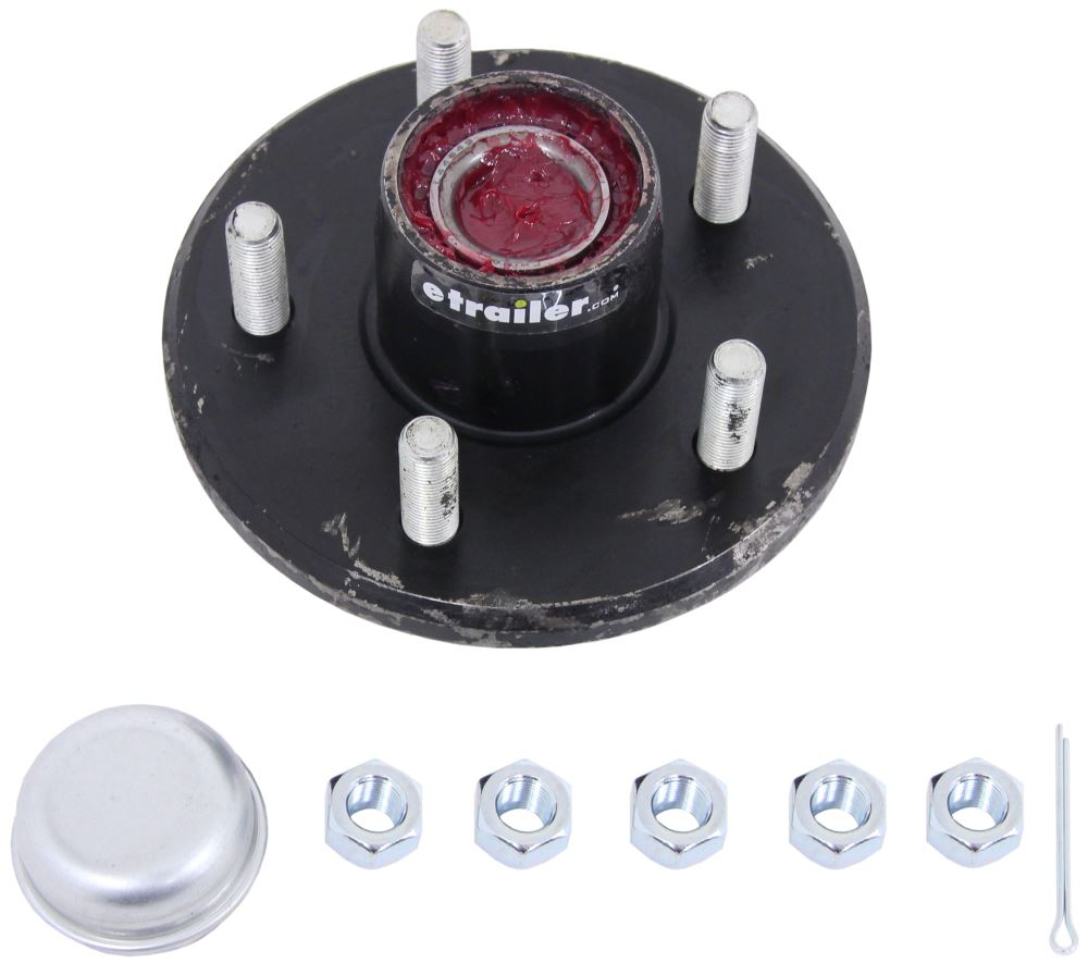 CE Smith Trailer Hub Assembly w/ Carrying Case for 2,700-lb Axles - 5 on 4-1/2 - Pre-Greased 1/2 Inch Stud CE13311