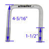 "CE Smith U-Bolts - Galvanized - 3-13/16"" Long x 3-1/16"" Wide x 1/2"" Diameter - Qty 4 Galvanized Steel CE15283GA-4"