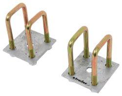 Maypole Square U Bolt 50 X 50mm Locking Nuts /& Washers Trailer Caravan Motorhome