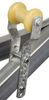 ce smith boat trailer parts keel roller assembly for 3 inch wide tongues - galvanized steel and yellow tpr