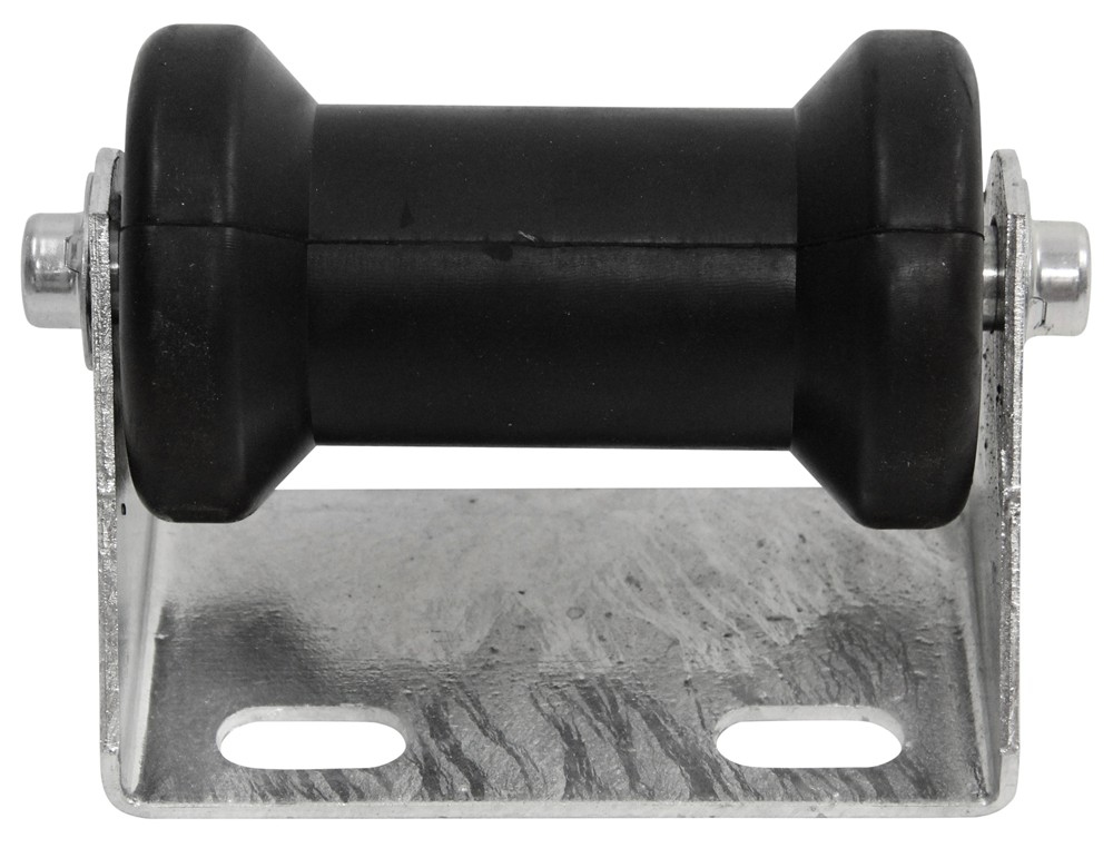 """CE Smith Offset Spool Roller Assembly for Boat Trailers - Galvanized Steel w/ Black Rubber - 5"""" Black Rubber CE32150G"""