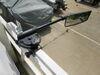 CIPA Pontoon Boat Mirror - Clamp On - Black Powder Coated Aluminum Clamp-On CM01877
