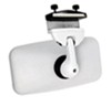 """CIPA Concept II Rearview Boat Mirror - Convex Glass - Windshield Mount - 8"""" x 4"""" - White Clamp-On CM11071"""