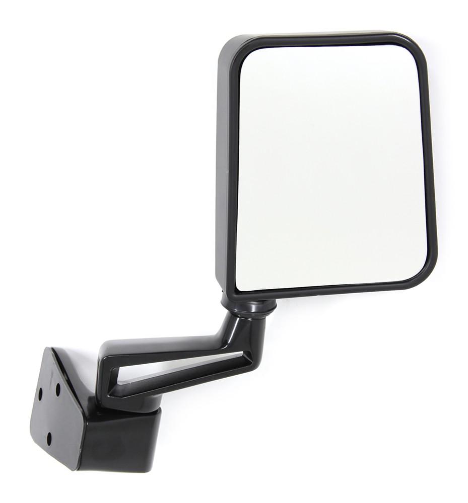 CIPA Replacement Side Mirror for Jeep Wrangler Half-Door - Black - Passenger Side Manual CM44401