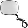 cipa atv-utv mirrors clamp-on utv adjustable side mirror - black left hand
