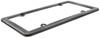 Nouveau License Plate Frame w/ Fastener Caps - Black Chrome Zinc CR20680