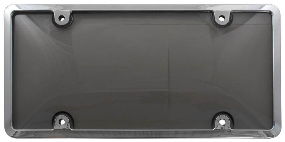 Tuf Combo License Plate Frame and Smoke-Tinted Shield - Chrome Plain CR62032