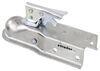 etrailer straight tongue trailer coupler standard channel - trigger latch zinc 1-7/8 inch ball bolt on 2 000 lbs