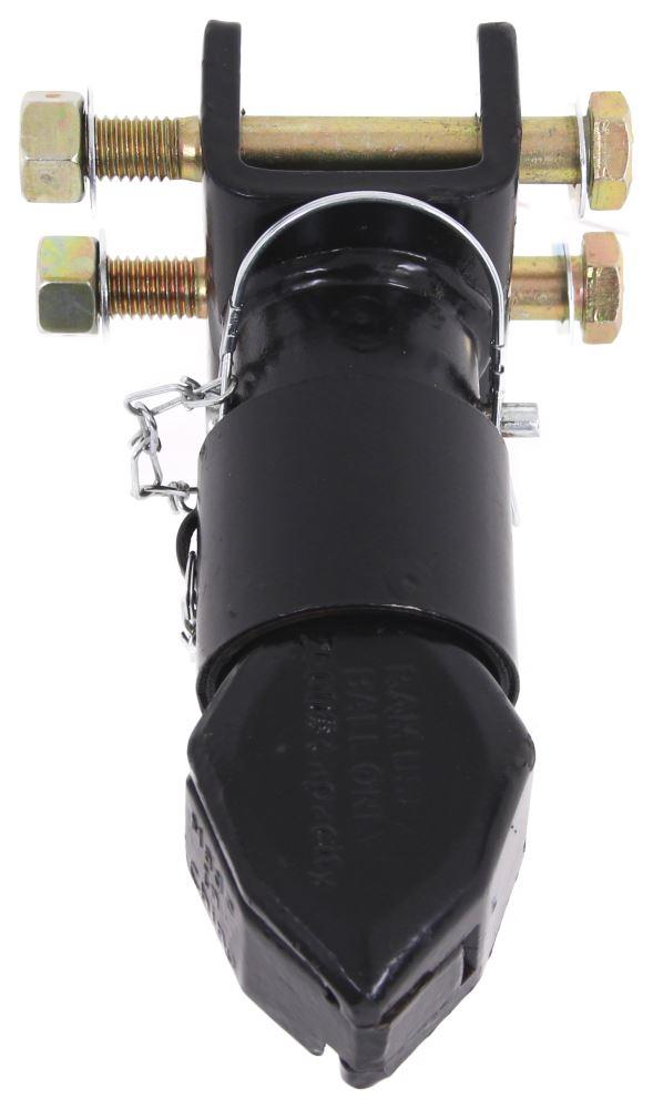 Black Powder Coat,Channel-Mount Trailer Coupler 2 7000LBS Adjustable Trailer Coupler