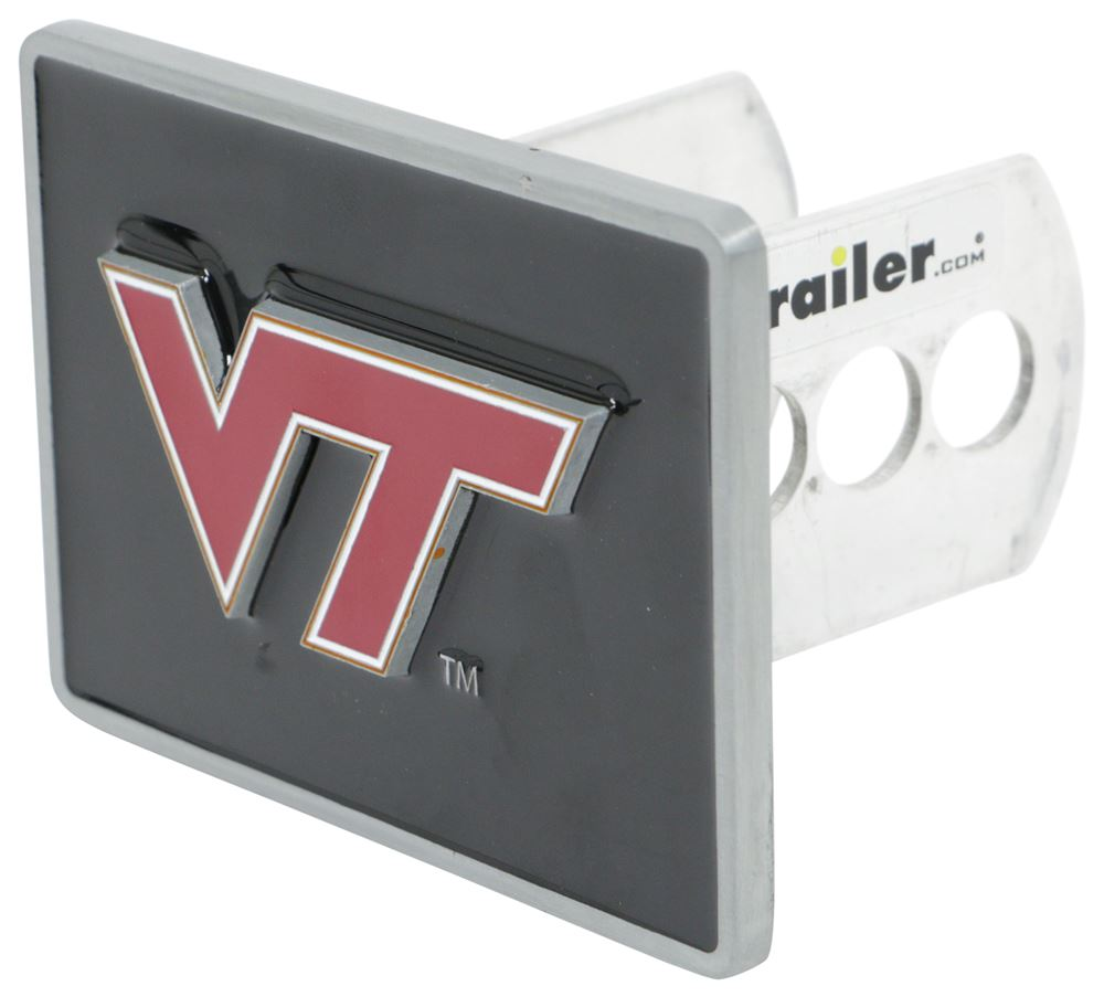 """Virginia Tech """"VT"""" Logo Trailer Hitch Receiver Cover Fits 2 Inch Hitch CTH61S"""
