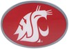 "Washington State Cougars 2"" NCAA Trailer Hitch Receiver Cover - Oval Face - Zinc Collegiate U-Y CTHO71"