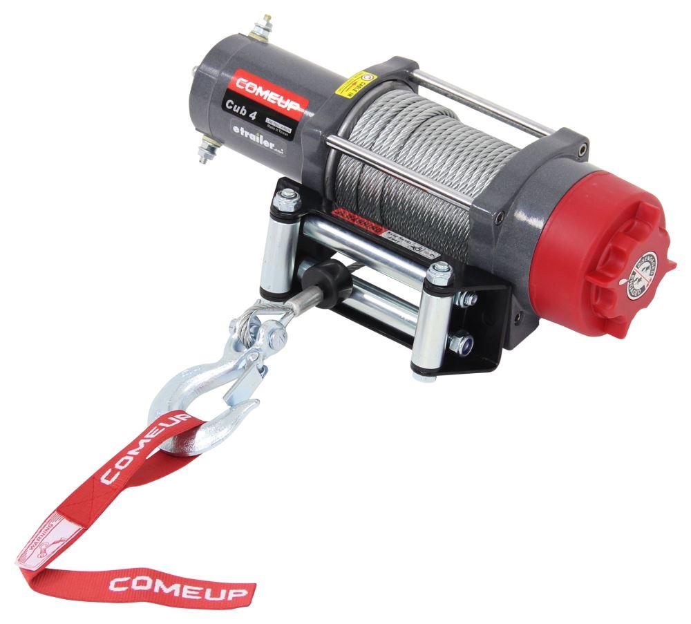 ComeUp Cub 4 UTV Winch - Wire Rope - Roller Fairlead - 4,000 lbs 1.0 HP CU123922