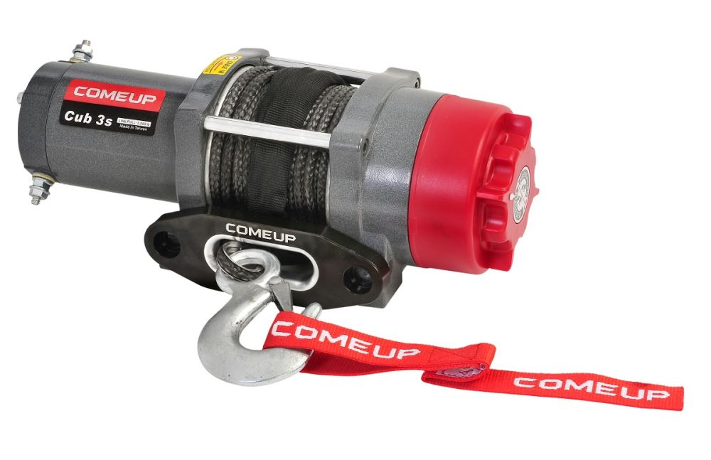 ComeUp Cub 3s ATV Winch - Synthetic Rope - Hawse Fairlead - 3,000 lbs 1.0 HP CU129302