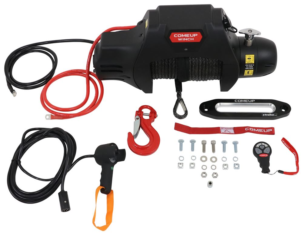 ComeUp Seal Gen2 Integrated Off-Road Winch - Wireless Remote - Synthetic Rope, Hawse Fairlead - 9.5K 9300 - 10000 lbs CU295885