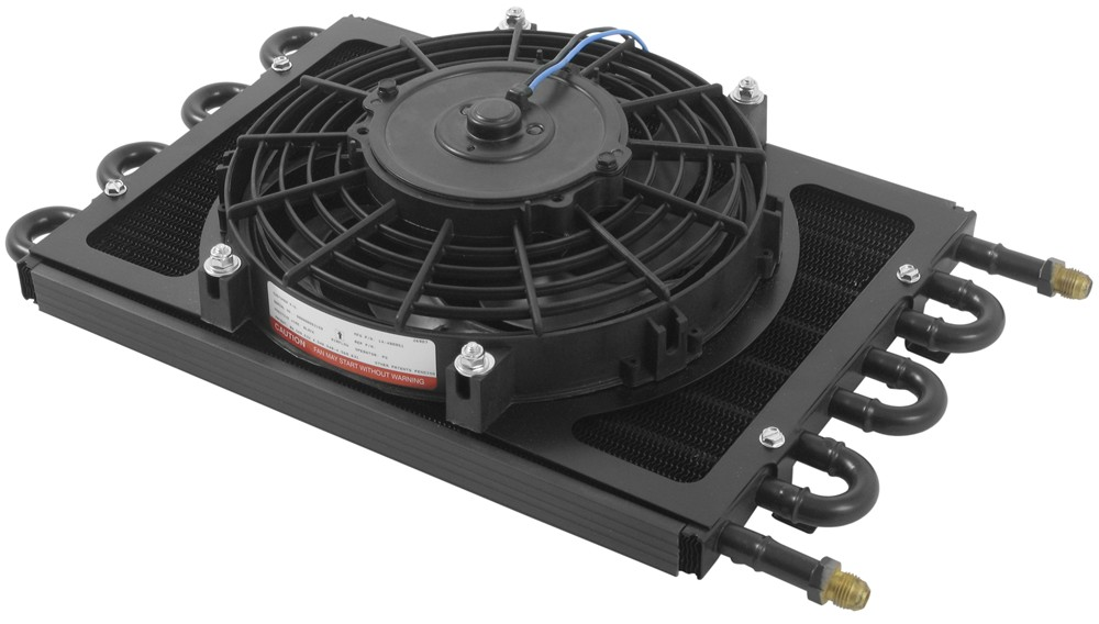 Derale Dyno-Cool Remote Cooler with Fan and AN Inlets - Class IV With - 6 AN Inlets D12733