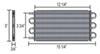 derale transmission coolers tube-fin cooler standard mount d12902