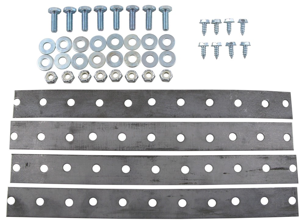 """Universal Bendable Metal Mount Kit w/ 1/4"""" Bolts for Derale Coolers - 10"""" Long Mounting Kit D13063"""