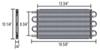 Derale Series 7000 Tube-Fin Transmission Cooler Kit w/ Hose Barb Inlets - Class IV - Standard 16-5/8W x 10-1/4T x 3/4D Inch D13104