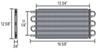 derale transmission coolers tube-fin cooler standard mount d13105