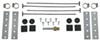 Derale Series 7000 Tube-Fin Transmission Cooler Kit w/ Hose Barb Inlets - Class IV - Standard Standard Mount D13105