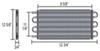 derale transmission coolers tube-fin cooler standard mount d13108