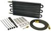 derale transmission coolers standard mount series 7000 tube-fin cooler kit w/ an inlets - class iii