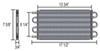 derale transmission coolers tube-fin cooler standard mount d13313