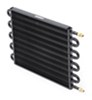 derale transmission coolers tube-fin cooler standard mount series 7000 core w/ an inlets - class iv