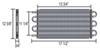 derale transmission coolers tube-fin cooler standard mount d13315