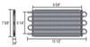 derale transmission coolers tube-fin cooler standard mount d13316