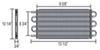 derale transmission coolers tube-fin cooler standard mount d13317