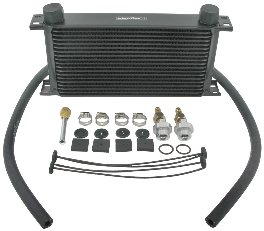Derale 19-Row Stacked-Plate Transmission Cooler Kit, -6 AN Inlets - Class V With - 6 AN Inlets D13403