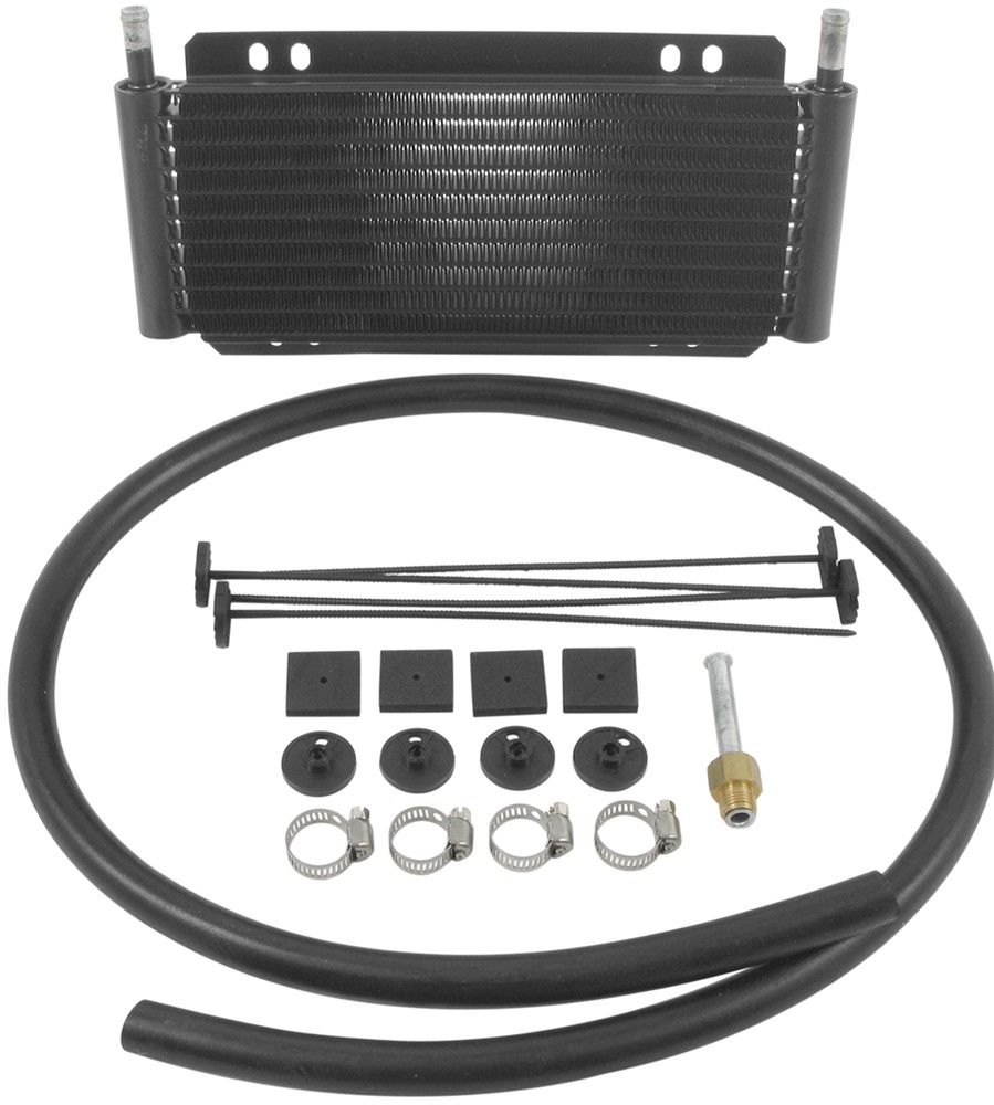 D13501 - With 11/32 Inch Hose Barb Inlets Derale Plate-Fin Cooler