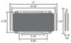 D13502 - Standard Mount Derale Transmission Coolers
