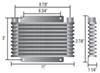derale transmission coolers plate-fin cooler standard mount d13611