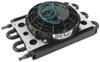 derale transmission coolers remote cooler mount 6-pass econo-cool assembly w/ fan 11/32 inch barb inlets - class ii