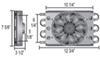 derale transmission coolers remote cooler mount d13730